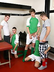 Gang Bang: Smooth Young Twinks Get Their Boy-Cunts Brutally Banged!